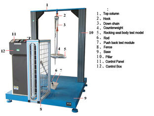 China High Standard Rocking Chair Fatigue Tester HD-F741 , 300~500mm Rocking Range supplier