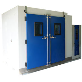 China Temperature And Humidity Test Chamber R23 / R404a Walk In Chamber With Viewing Window distributor