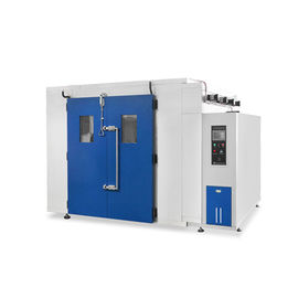 China Temperature And Humidity Test Chamber R23 / R404a Walk In Chamber With Viewing Window factory