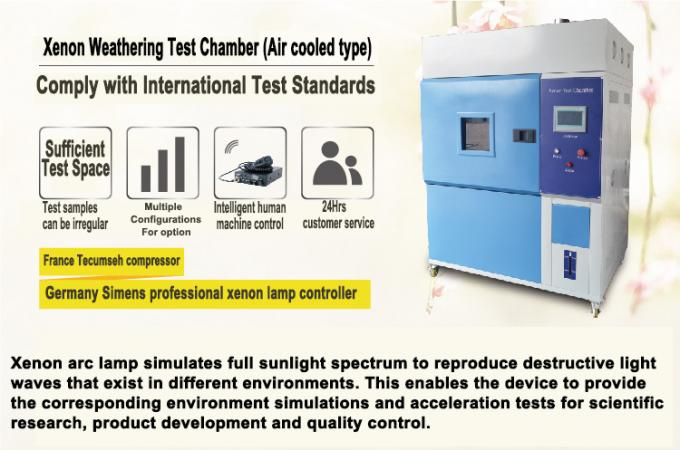 Programmable Xenon Accelerated Weathering Tester with PLC Touch Screen Controller