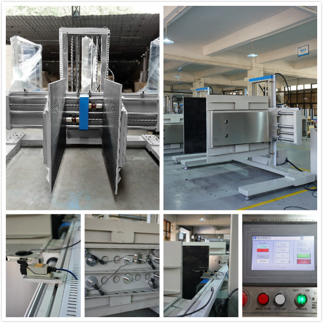 PLC Control Package Testing Equipment , ASTM D6055 Packaging Clamping Testing Instruments