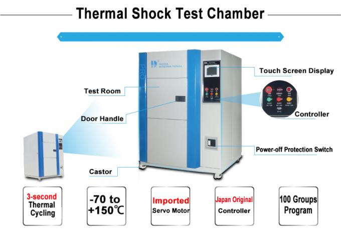 High And Low Temperature Thermal Shock Chamber For Environmental Climate Simulation Test