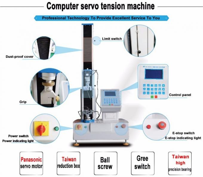 Electronic 2KN Single Column Tensile Testing Machines Price for Film ,Textile
