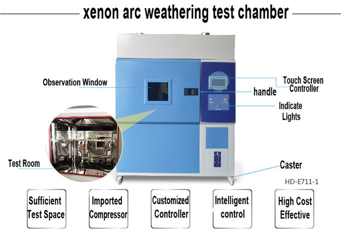 Stainless Steel Xenon Arc Test Chamber 2.0KW / Climatic Aging Test Accelerated