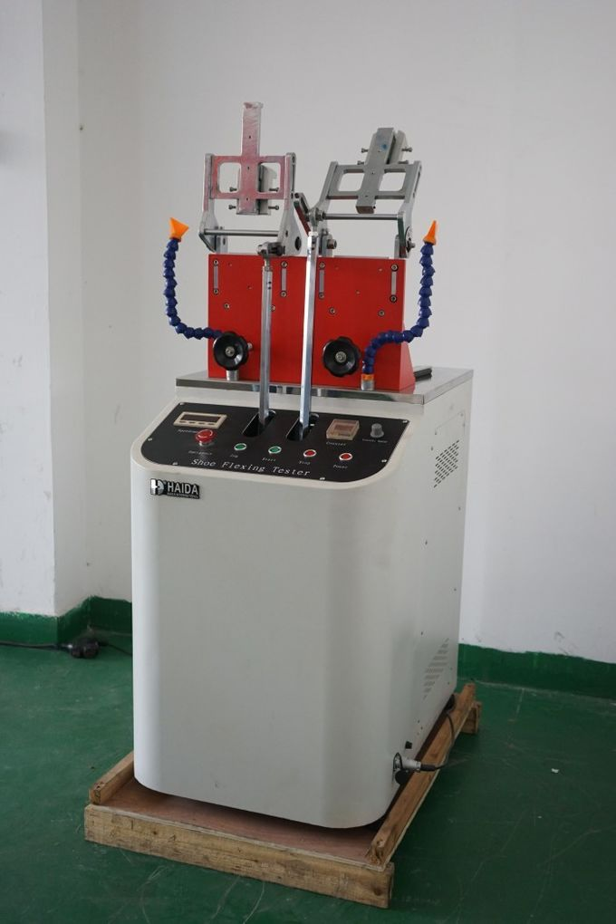 Adjustable Rubber Testing Machine , GB / T 3903 Shoes & Insoles Folding Fatigue Tester