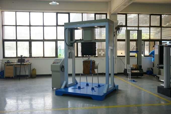 Chair Drop Impact Test Machine High Strength Cycle Drop Weight Test , Furniture Testing Equipment