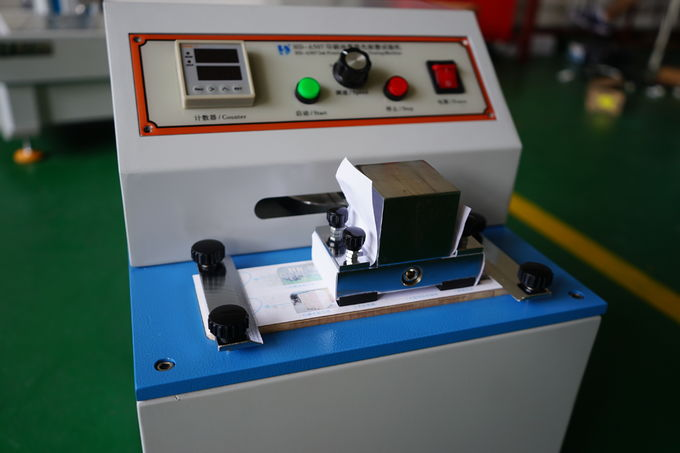 Rub Resistance Paper Testing Equipments With Microcomputer Control